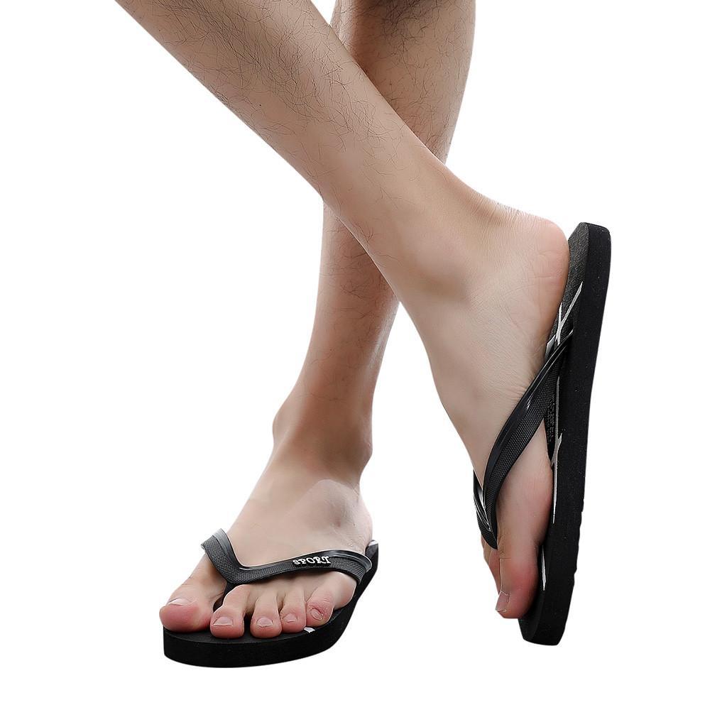 48df35c2d6ab85 YOUYEDIAN Summer Slippers 2019 Flip Flops Men S Shoes Women S Shoes Beach  Slip Flat Bottom Pin Slippers Feminino Vestido  g3 Black Boots Footwear  From ...