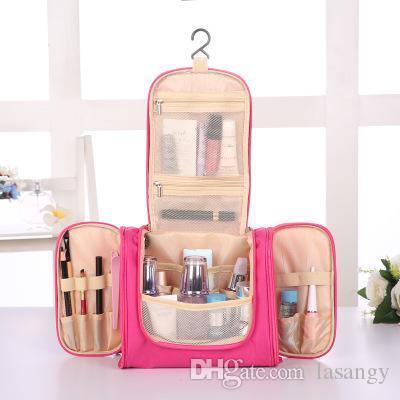 6c0466339053 Wholesale- Travel Organizer Bag Unisex Women Cosmetic Bag Hanging ...
