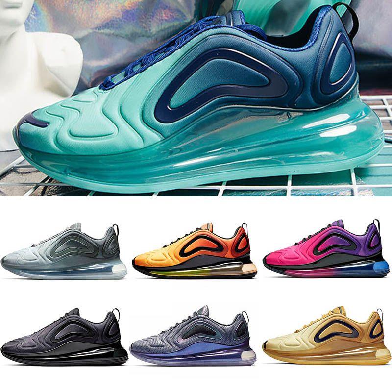 nike 720 air max 720 Zapatillas de deporte para hombre de la marca Zapatillas de tenis para mujer triple blanco negro rosa Sea Forest Neon DESERT GOLD