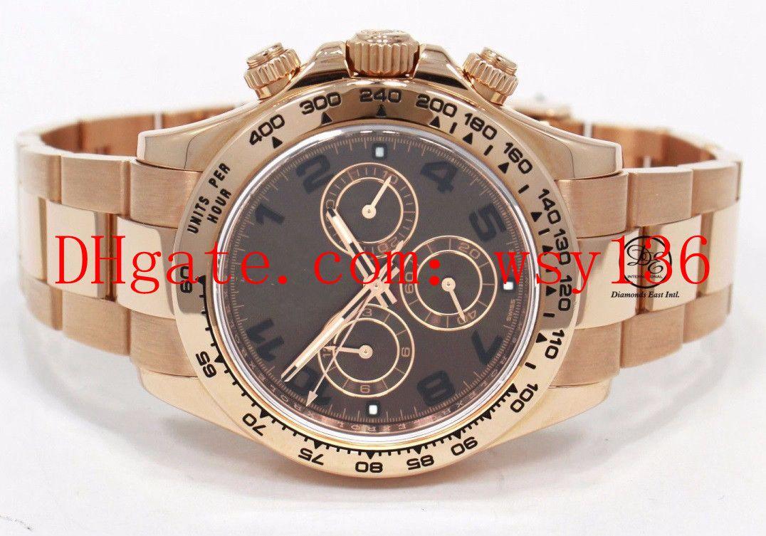 e80372972eae Compre Envío Gratis De Lujo De Alta Calidad 116505 18 K Oro Rosa Movimiento  Mecánico Automático Para Hombre Relojes 40 Mm Hombres Relojes De Pulsera A  ...
