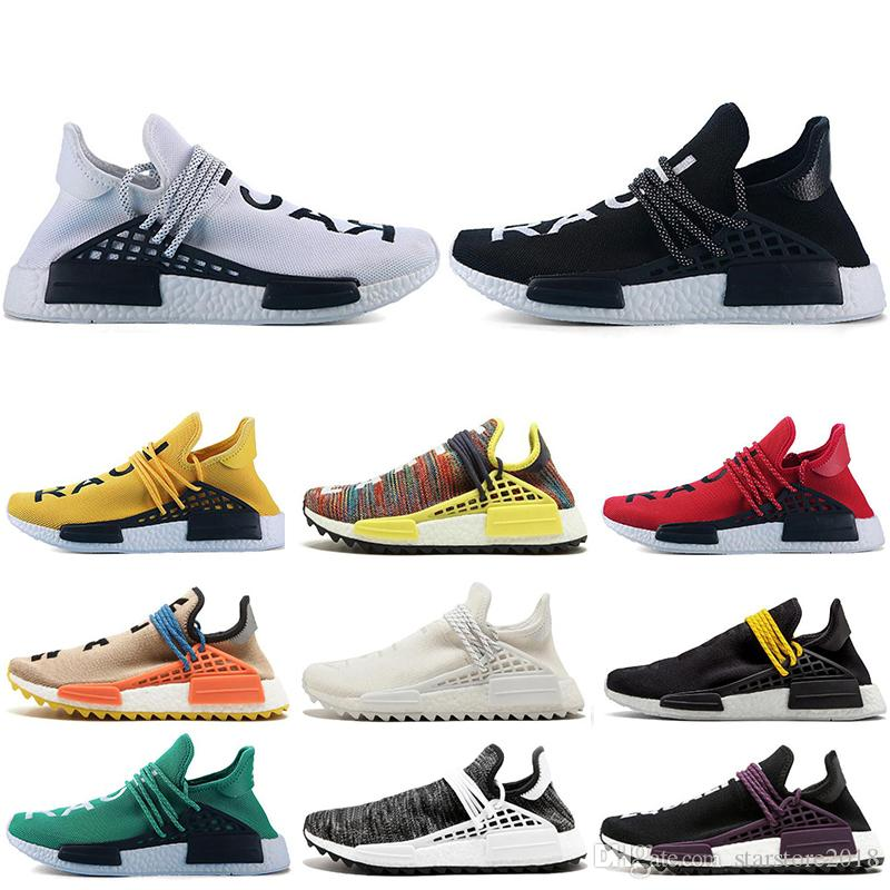 fe84de20c6a3d 2019 Cheap Human Race Hu Trail X Pharrell Williams Nerd Men Running Shoes  White Equality Mens Trainers For Women Sports Sneaker Size 36 47 From ...