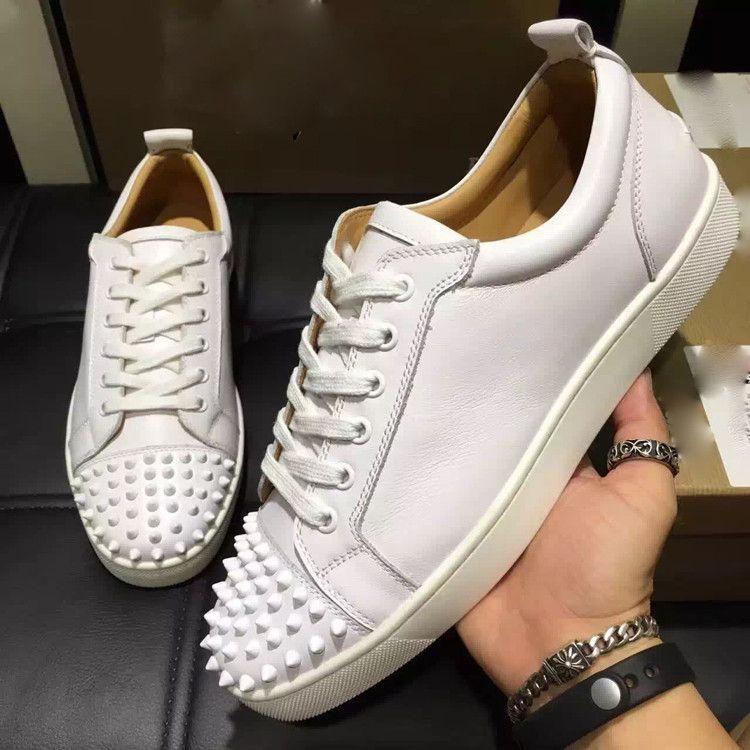 853b652b7936 Wholesale New 2019 Men Brand Flats,black Genuine Leather Lace Up ...
