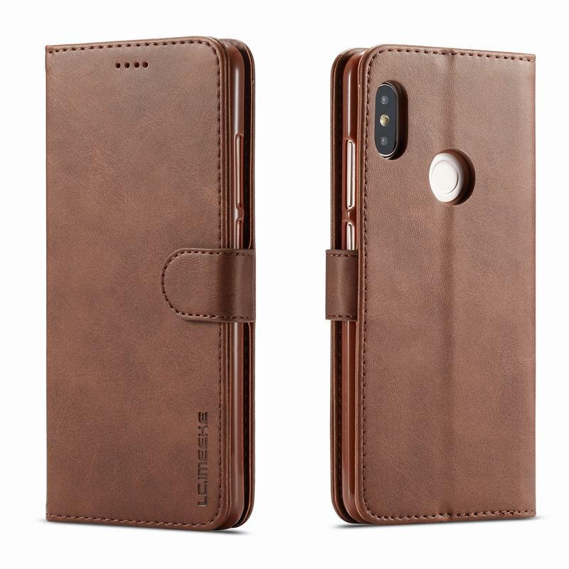 watch c1390 ec9a2 Leather Case For Xiaomi Redmi Note 5 Case Cover Luxury Flip Wallet Phone  Cases For Xaomi Redmi Note 5 Pro 5.99