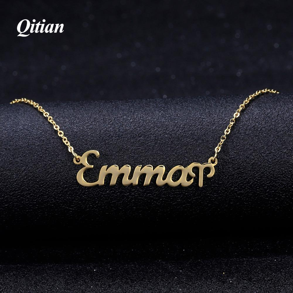 Star Zodiac Sign 12 Constellation Necklaces Pendants Choker Name Necklaces for Women Stainless Steel Jewelry