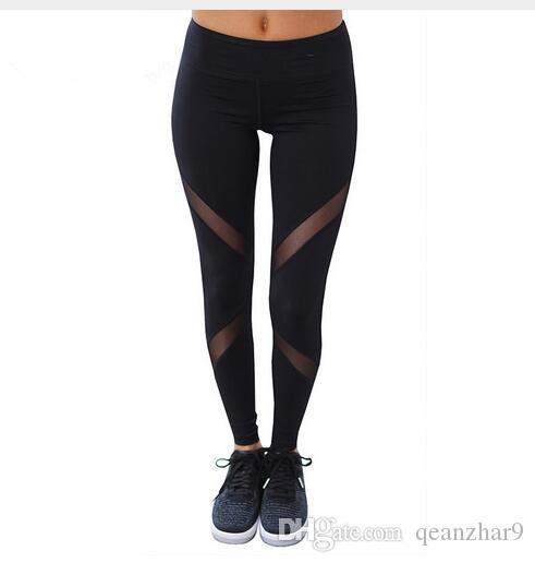 77b4dd36b1ea46 2019 S XL Women Sexy Leggings Pants Gothic Design Insert Mesh Size Black  Capris Pants Sportswear 2017 New Gym Leggings From Qeanzhar9, $4.03 |  DHgate.Com