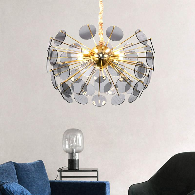 Chandeliers Responsible Led Hanging Lamps Novelty Chandelier American Style Living Room Lights Bedroom Chandeliers Iron Glass Fixtures Nordic Lighting Ceiling Lights & Fans