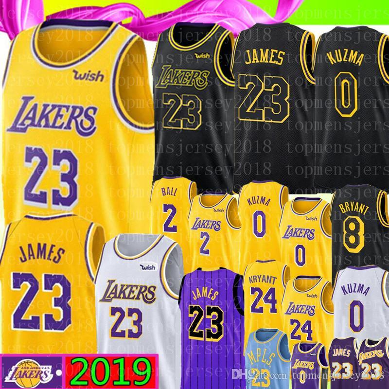 a3751cc5a 2019 University LeBron James Jersey NCAA Lonzo   Ball Kyle   Kuzma Brandon    Ingram Kobe 8 Bryant Basketball Jerseys Yellow White Black Purple From ...