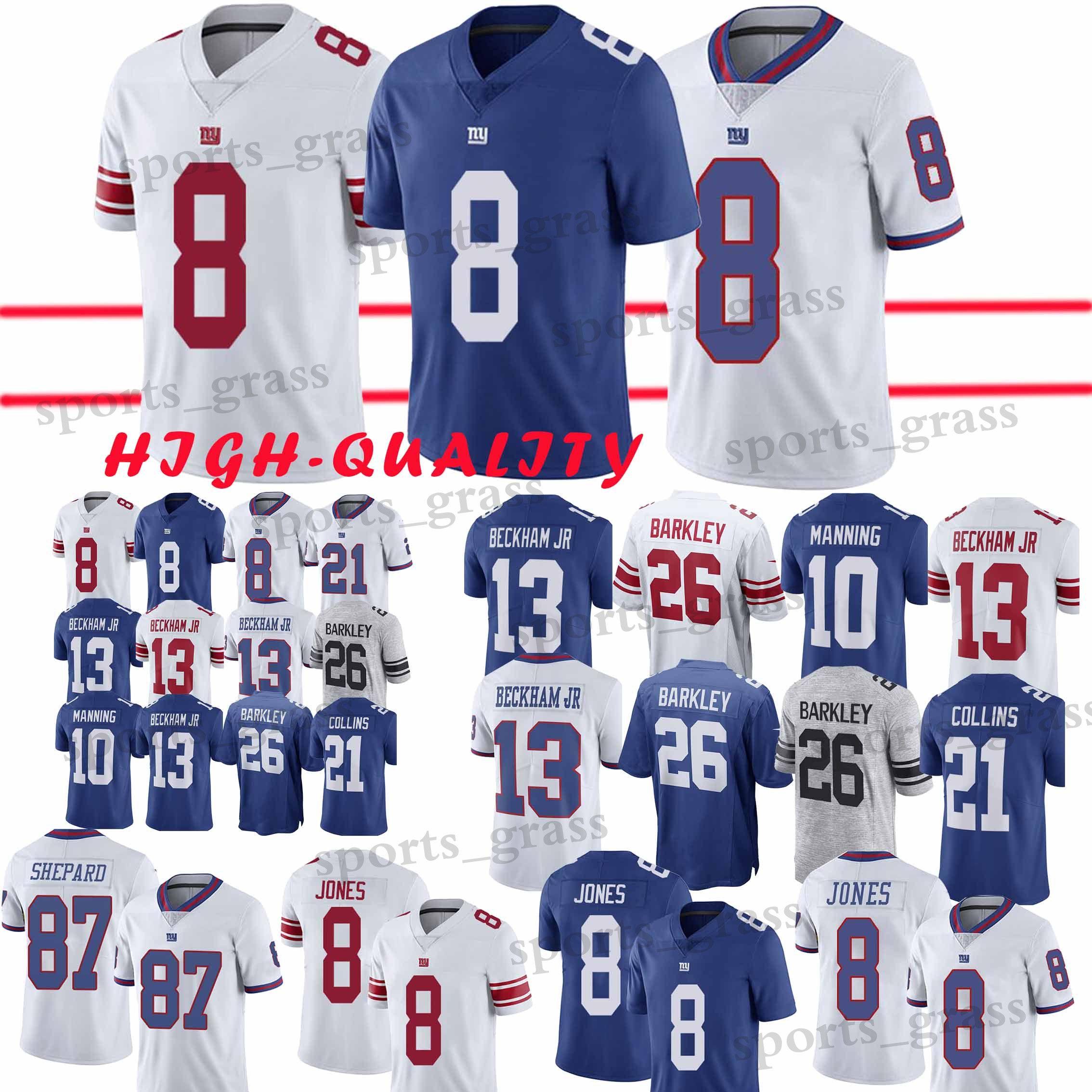 online retailer 7ec7a 7aaa4 8 Daniel Jones jersey New York Gaint Jerseys 26 Saquon Barkley 13 Odell  Beckham Jr 10 Eli Manning Football Jersey promotion