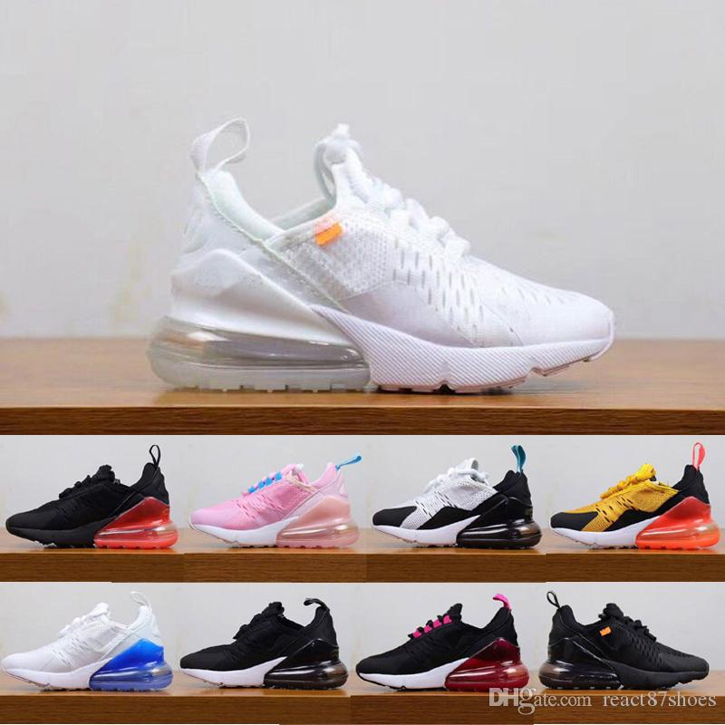low priced fab5e e43f8 Designer Off 27 kids running shoes For boys girls baby children boost Black  blue grey Air 27C Casual sports shoes Eur28-35