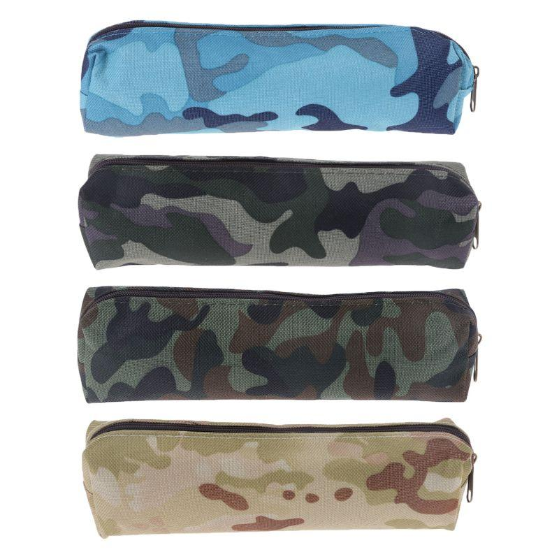 Camouflage Pencil Case Cosmetic Makeup Bag School Office Supplies Zipper Pen Pouch for Boys Girls