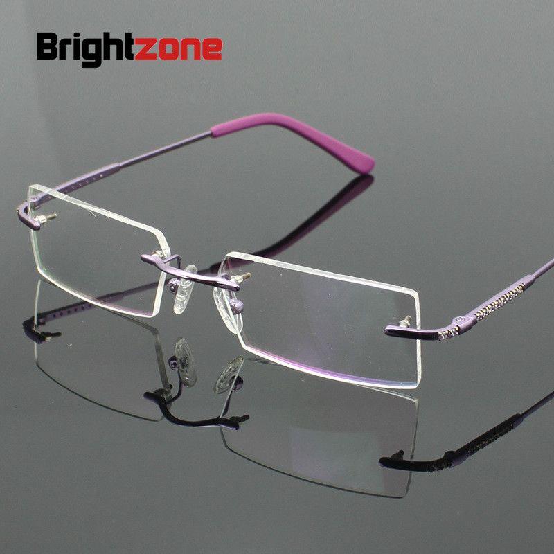 17f6212770 Compre Brightzone Miopía Gafas Mujer Moda Óptica Sin Montura Marco De Metal  Plata Oro Óptico Lentes Transparentes Lentes Retro A $27.9 Del Nectarine99  ...
