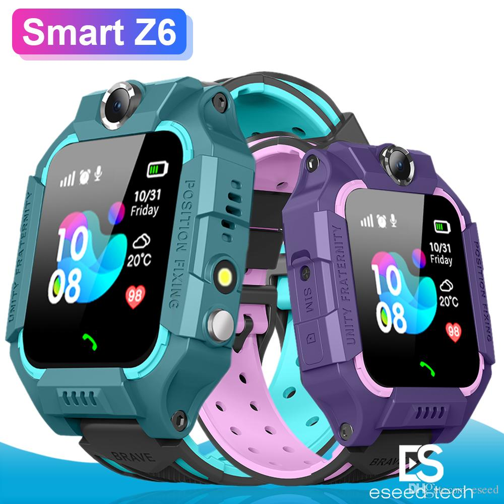Z6 Children Bluetooth Smart Watch IP67 Waterproof SIM Card LBS Tracker SOS Kids Smartwatch For iPhone Android Smartphone