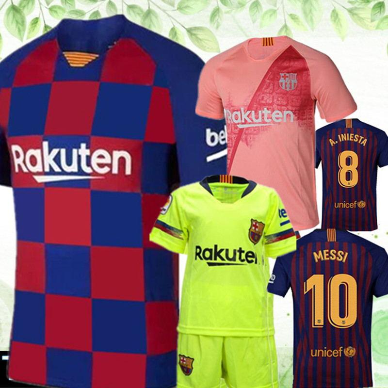 787efd0de8 2019 2020 Barcelona MESSI  10 Soccer Jersey ThailandA.INIESTA  8 Suárez  9  DEMBELE  11 COUTINHO  14 Football Shirts Uniforms From Big red shop