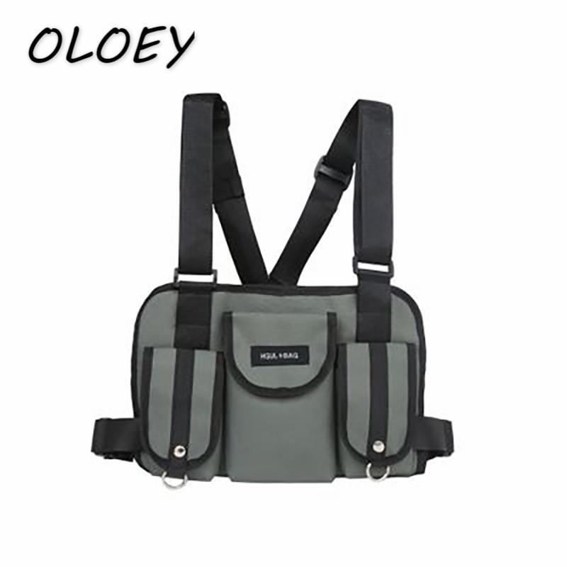 a171bb8687 ... Rig Hip Hop Streetwear Functional Tactical Chest Bag Cross Waist  Soulder Bag Kanye West  C1902201 Girls Backpacks Drawstring Backpack From  Yizhan07