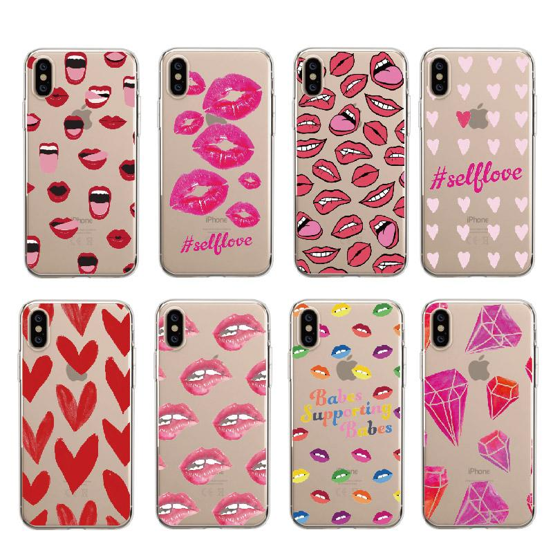 coque iphone 7 lipstick