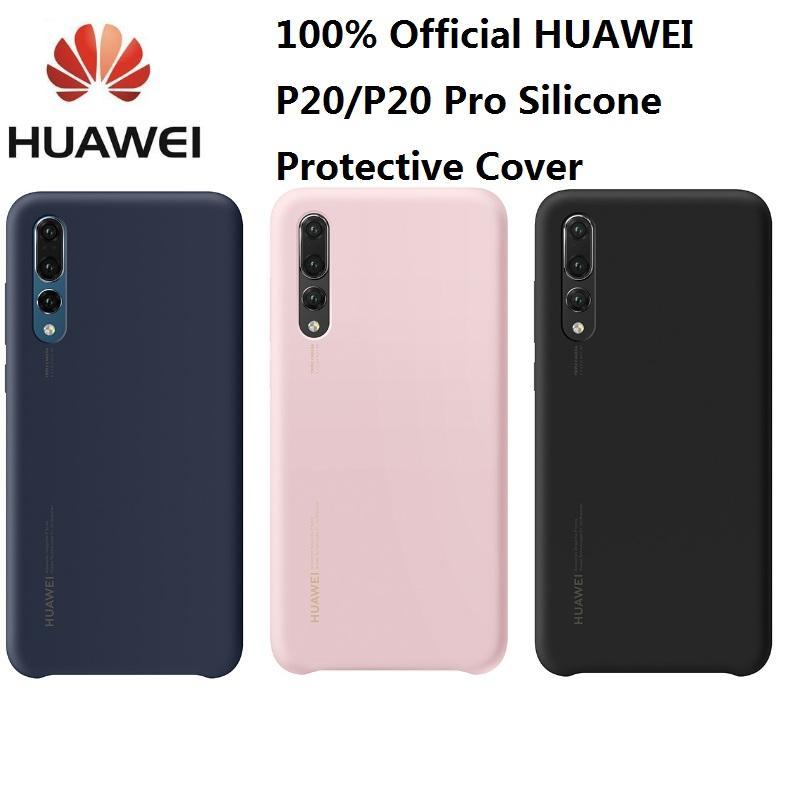 cfea3ab05e8 Accesorios Movil 100% Original Oficial Huawei P20 Pro Funda Silicona  Líquida Microfibra Incorporada Shell Para Huawei P20 Cubierta Protectora De  Silicona ...