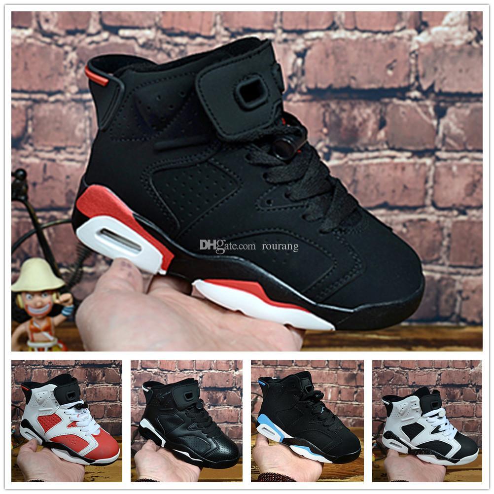 the latest f748e 2b0f7 Compre Nike Air Jordan Aj6 2018 Niños 6 Zapatillas De Baloncesto Para Niños  Niñas Carmín Infrarrojo 6s UNC Toro Hare Oreo Maroon Jóvenes Zapatillas De  ...
