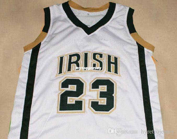 huge discount fe92c 6de0d Cheap Mens LEBRON JAMES IRISH HIGH SCHOOL JERSEY WHITE NEW ANY SIZE XS -  5XL Retro Basketball Jerseys NCAA College