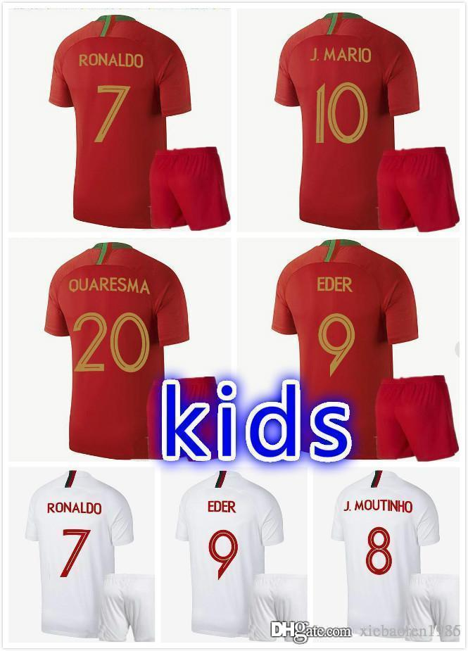 b7133f514 2019 2018 2019 Kids Kit NANI Soccer Jerseys QUARESMA 2018 World Cup Kids  DANILO PEPE Camisetas De Futol Football Shirts From Xiebaoren1936