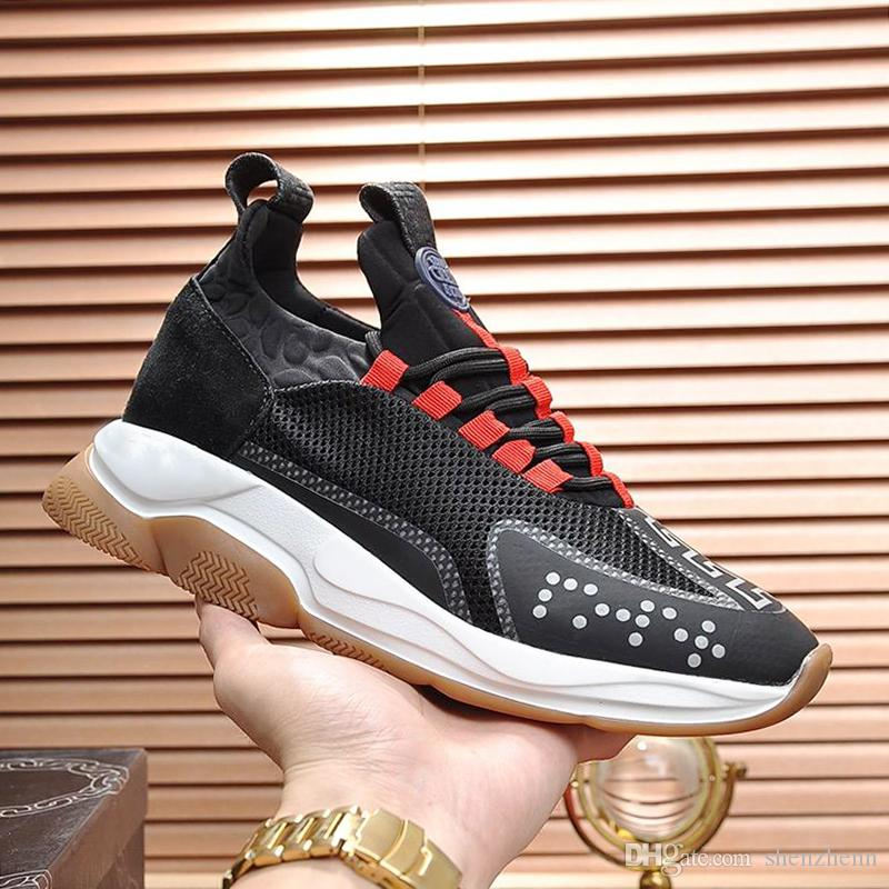 Men Casual Shoes Luxury Breathable Cross Chainer Sneakers New Design 2019 Fashion Shoes Mens with Origin Box Scarpe da uomo Drop Shipping