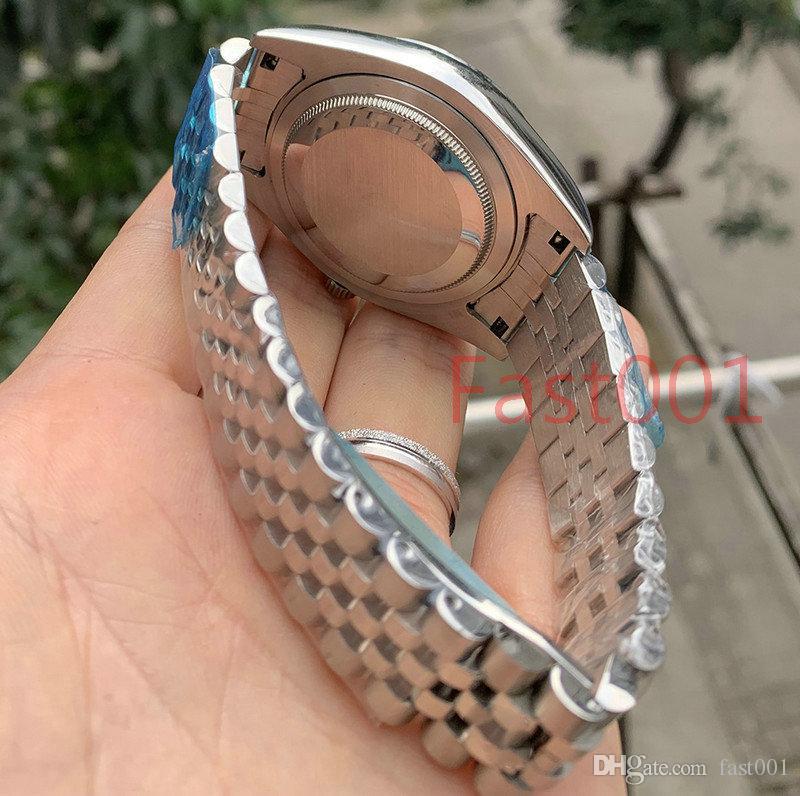 Erkek İzle 2813 Mekanik Otomatik Hareketi 41mm Paslanmaz Çelik Saatler Moda Erkekler Tarihi Sadece Tasarımcı Erkek Saatler Saatı