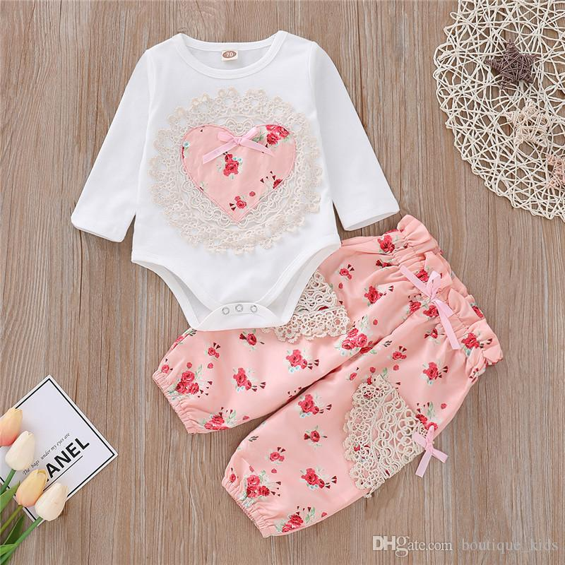 6d8d5da784c3 Baby Girl Clothes 2019 Brand New Spring Autumn Infant Clothes Floral ...