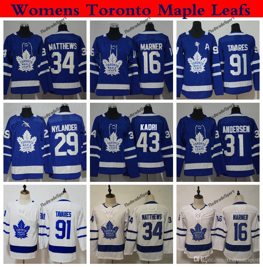 d1350abab9e Ladies Toronto Maple Leafs 34 Auston Matthews Mitchell Marner 91 ...