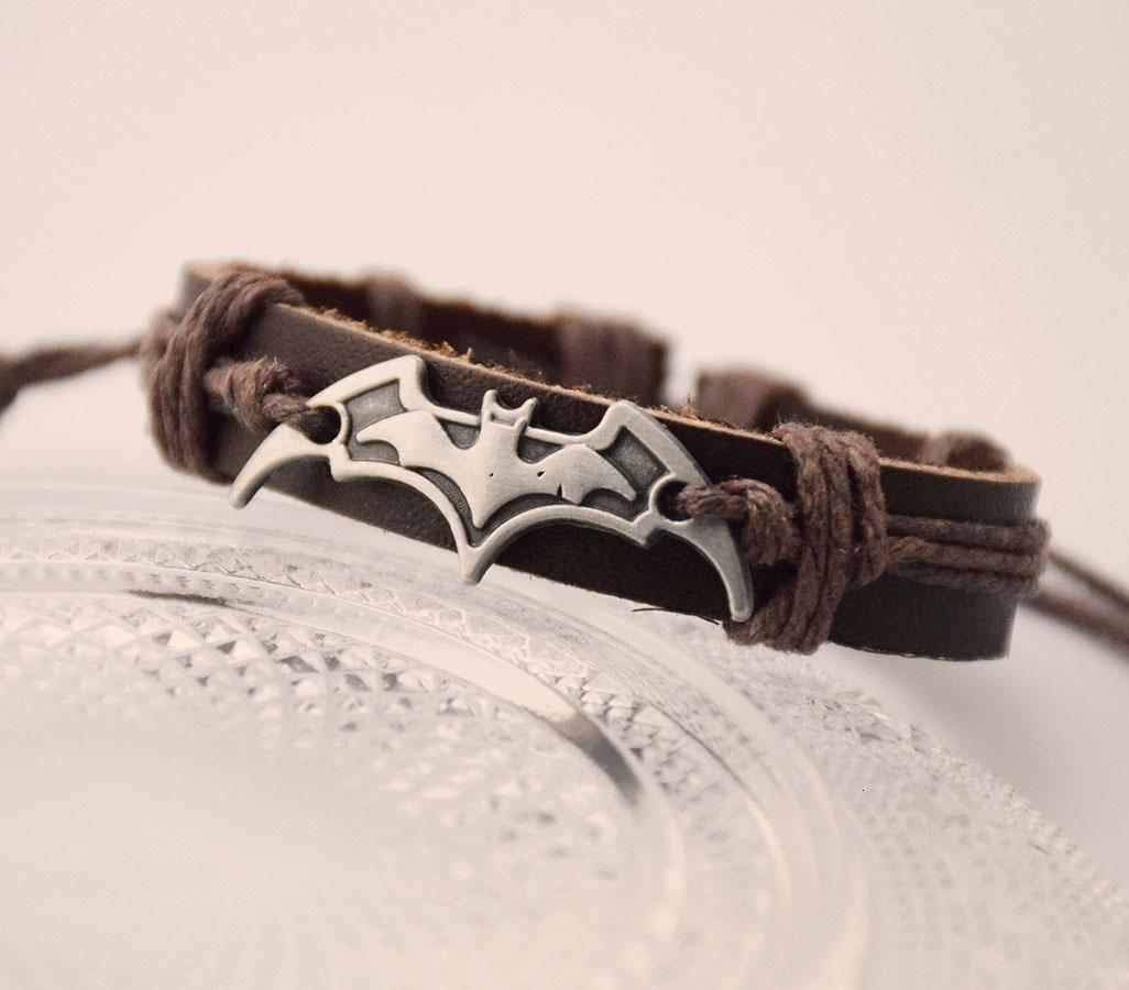 Bat Modeling Designer Bracelet Batman Darts European Designer Eternity Bracelet Jewelry Hollywood Jewelry Love Leather Bracelets For Unisex