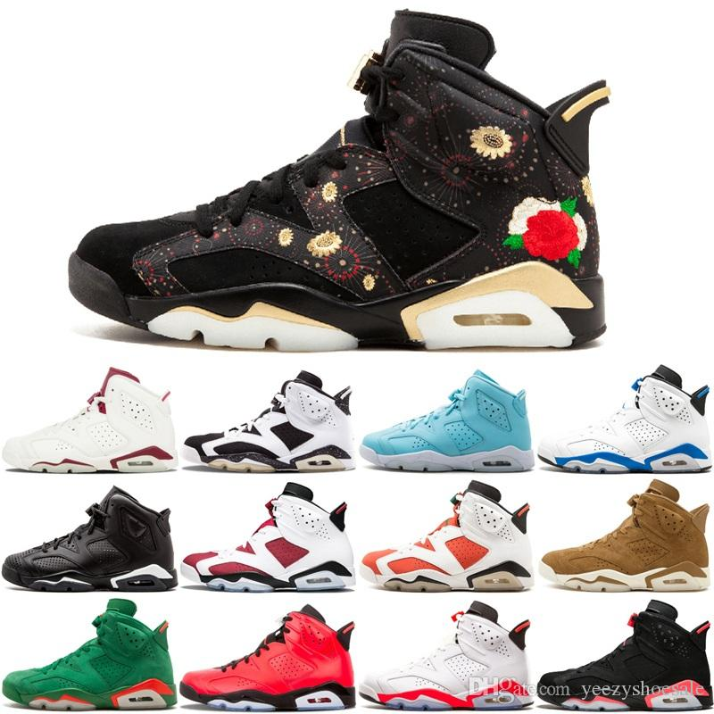 985dece58e12 6 6S Men Basketball Shoes CNY Carmine Black Cat Green Suede Golden Harvest Slam  Dunk Pantone GS Pinnacle Bugs Bunny Sports Sneakers 8 13 Basketball  Trainers ...