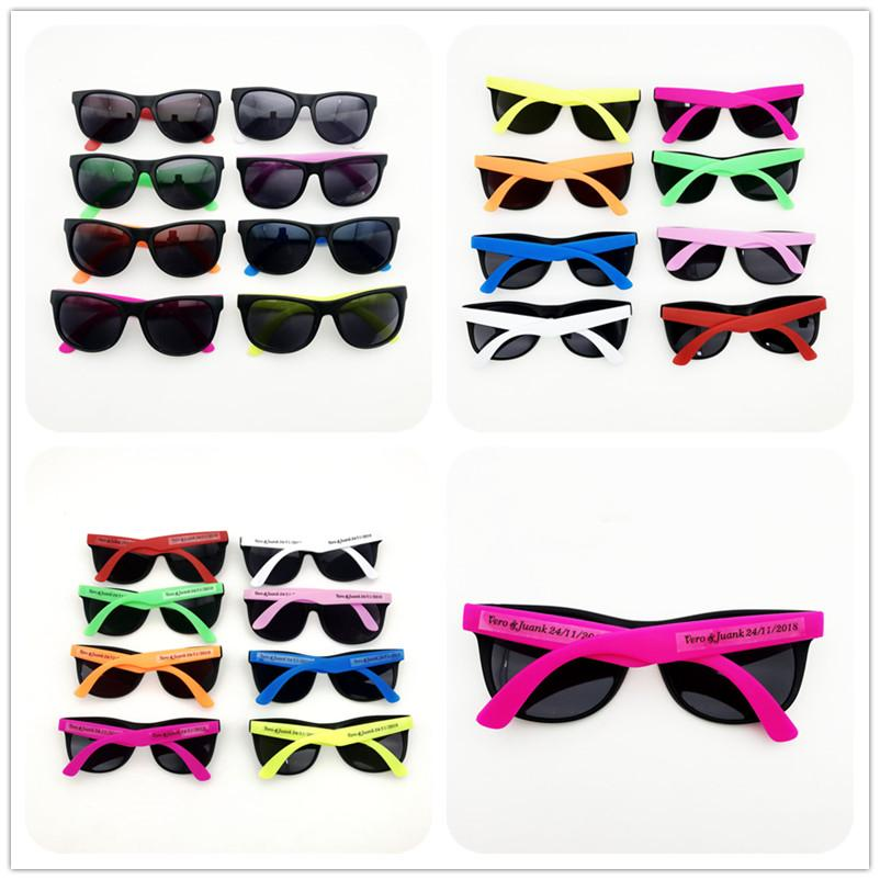 d664493f7b 2019 80 S Style Neon Party Sunglasses Fun Gift Party Favors Toy Goody Bag  Favors Wedding Beach Party Souvenirs From Qunqunne