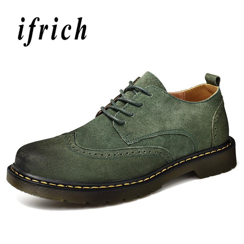 Compre Hombres Tallados Zapatos De Negocios Casuales Zapatos Oxford De Cuero  Genuino Brogue Para Hombres Antideslizantes Vestido Para Hombre Calzado  Marca ... 16e4aaab124e
