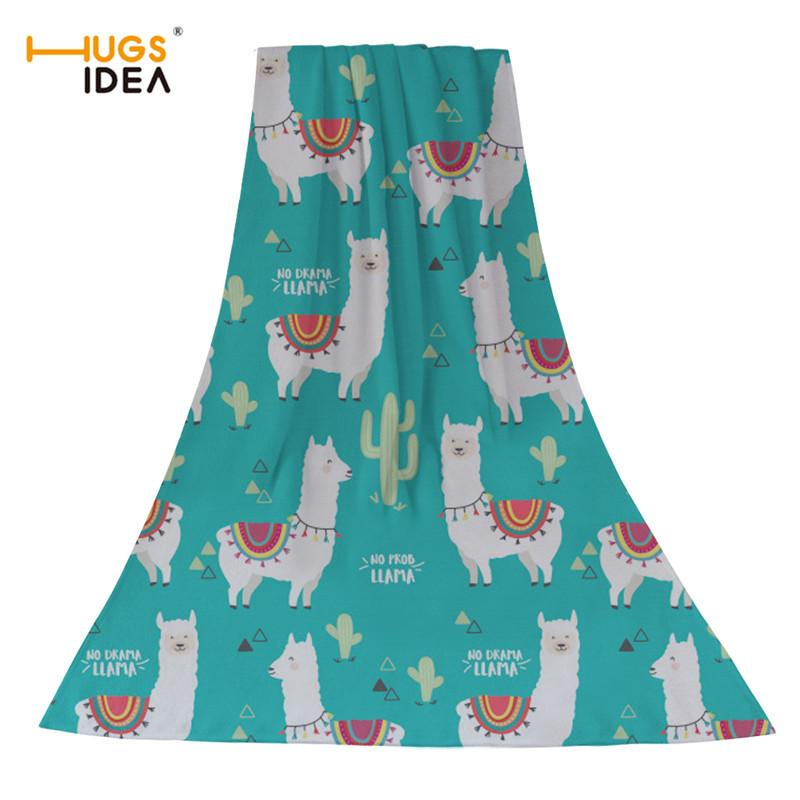 2021571a3 Compre HUGSIDEA Toalla De Playa De Dibujos Animados De Alpaca Imprimir  Lindo Textiles Para El Hogar Cara De Baño Toallas De Cabello Para Niños  Bebé Super ...