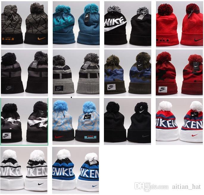 48dc88fdb16 New Stamping Winter Hats For Men Women Knit Pom Poms Hat Cap Brand Beanie  Hat LadiesThicken Hedging Warm Skullies Female Bone Crochet Hats Headwear  From ...