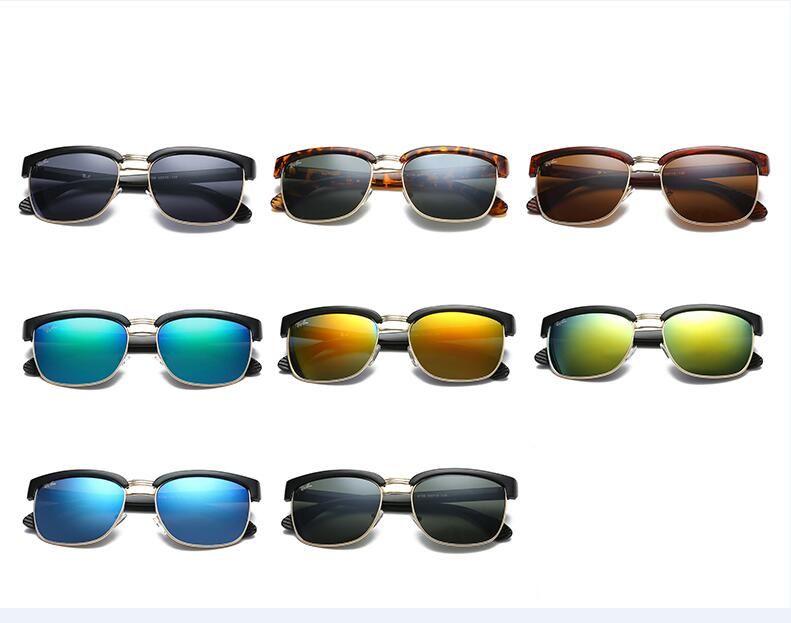 4fbafab2e3aef Brand Design 2019 Hot Sale Half Frame Sunglasses Women Men Club Master Sun  Glasses Outdoors Driving Glasses Uv400 Eyewear Whit Brown Case Cheap  Prescription ...