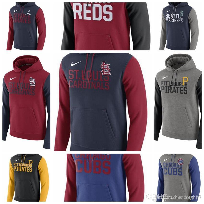 new product fdb61 354fc Men's Chicago Cubs Atlanta Braves Cincinnati Reds Seattle Mariners St.  Louis Cardinals Pittsburgh Pirates Royal Club Fleece Pullover Ho