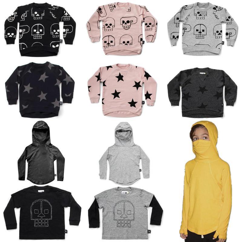 Autumn New Nununu Kids Long Sleeve T Shirts Boys Skull Robot Star  Sweatshirt Baby Girl Tops Ninja Shirt Clothes 1 9Y UK 2019 From Victorys07 2310cf765498