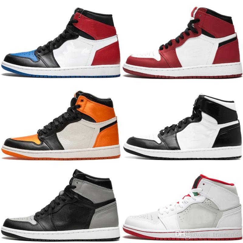 Acheter Top 3 Hommes Nike Air Jordan 1 Retro OG Chaussures De Basketball  Qualité AAA Hommage À La Maison Chicago Barons Race Triple Noir Blanc  Baskets ... 1492f3f75d3b