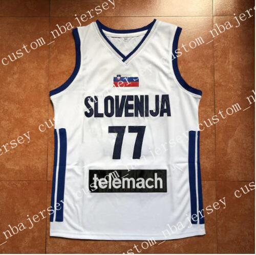 7cfeed639 2019 Cheap Wholesale Luka Doncic  77 Stitched Slovenia National Jerseys  2018 Drafts High Quality From Custom nbajersey