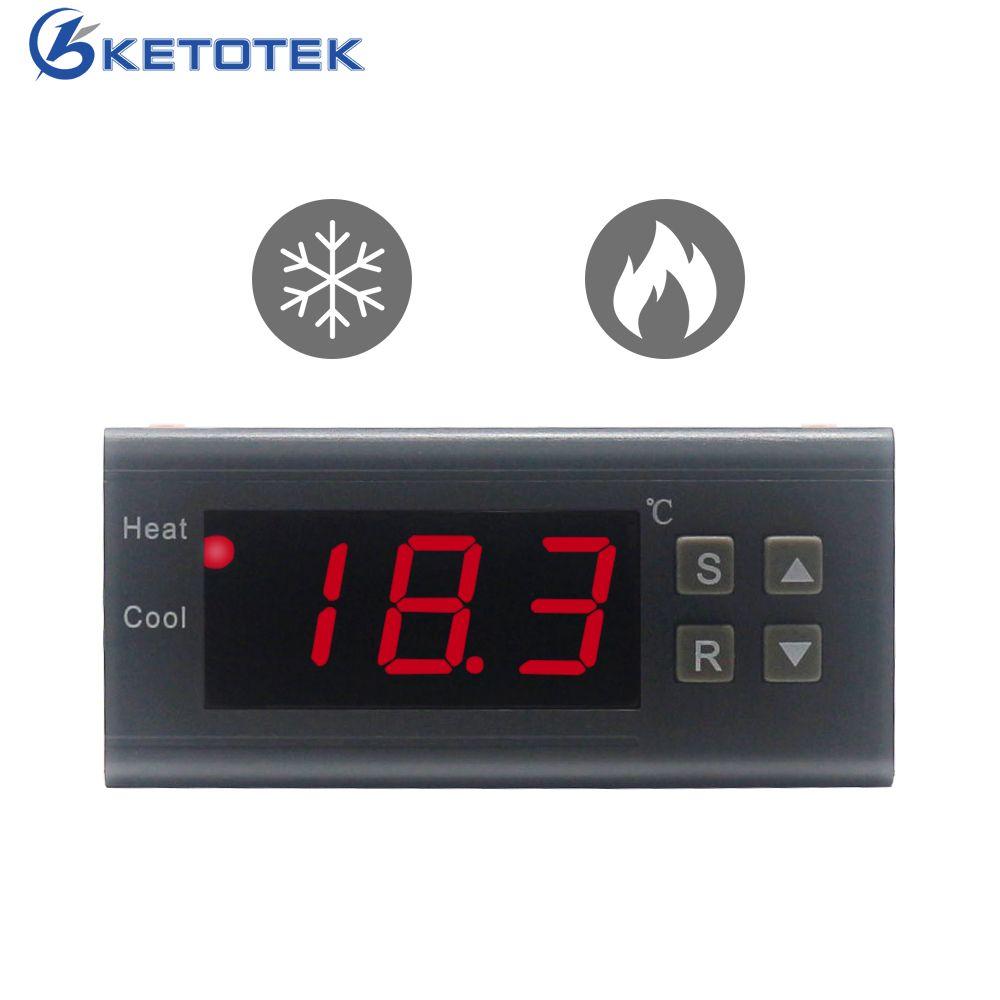 Mini AC10A 220V Digital Temperature Controller Thermostat Regualator 40~120  Centigrate LED Thermocouple NTC Sensor Aquarium