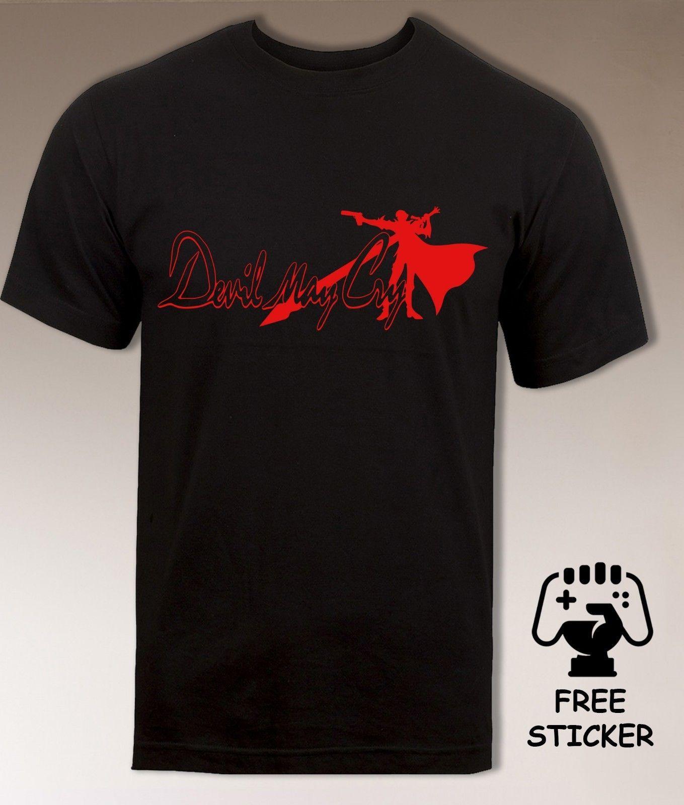 online store 49b90 780ac Devil May Cry Logo T Shirt DMC Dante Vergil Classic Retro Gamers Top Mens S  XXL Men Women Unisex Fashion Tshirt Black Mens T Shirt Cool Tshirt Designs  From ...