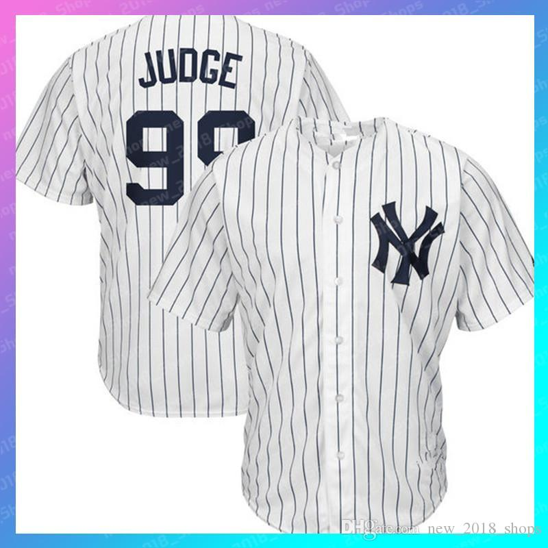 new style 01fb3 5accc 99 Aaron Judge jersey Yankees 2 Derek Jeter 27 Giancarlo Stanton 51 Bernie  Williams 23 Don Mattingly 24 Gary Sanchez 3 Babe Ruth retro