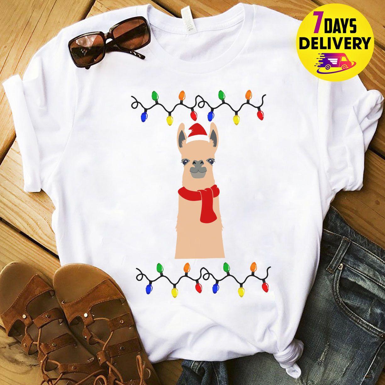 Llama Christmas Shirt.Llama Ugly Christmas Shirt Fa La La Christmas T Shirt Funny Size S 3xlcattt Windbreaker Pug Tshirt