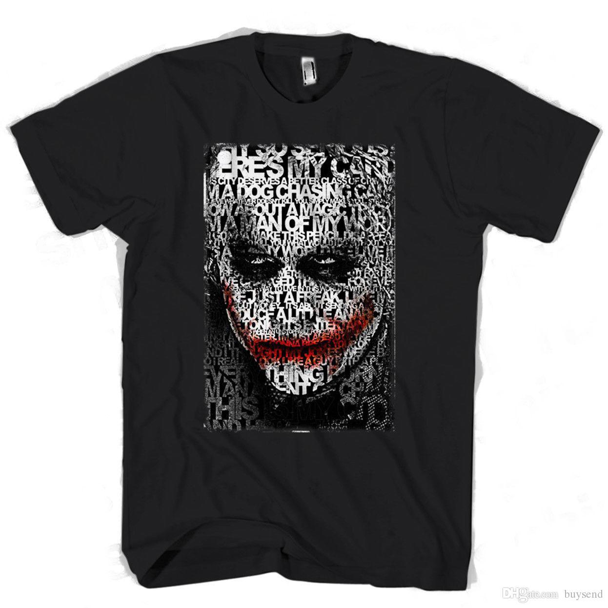 03 Joker Acquista Uomo A10 Dal Tipografia Maglietta Face Donna shrQtdC