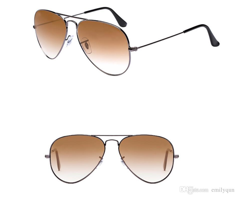 96f4b8ea95 Brand Classic Pilot Sunglasses For Men Gradient Lens Sunglasses Big Frame  Sunglasses Women Metal Frame Gray Brown Lens Sun Glasses With Box Kids  Sunglasses ...