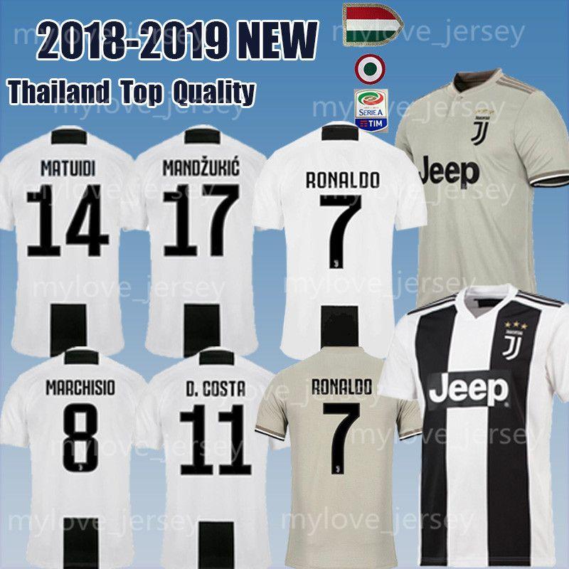 newest 72354 020bc 2019 Juventus #7 RONALDO Soccer Jersey 18/19 home 10 DYBALA Soccer Shirt 9  HIGUAIN MANDZUKIC CUADRADO 6 KHEDIRA DANI KID Football jerseys