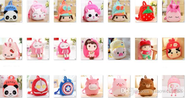 Manufacturers of ultra-low-cost wholesale cute cartoon children's schoolbags kindergarten baby 1-3 years old creative Plush shoulder Backpac