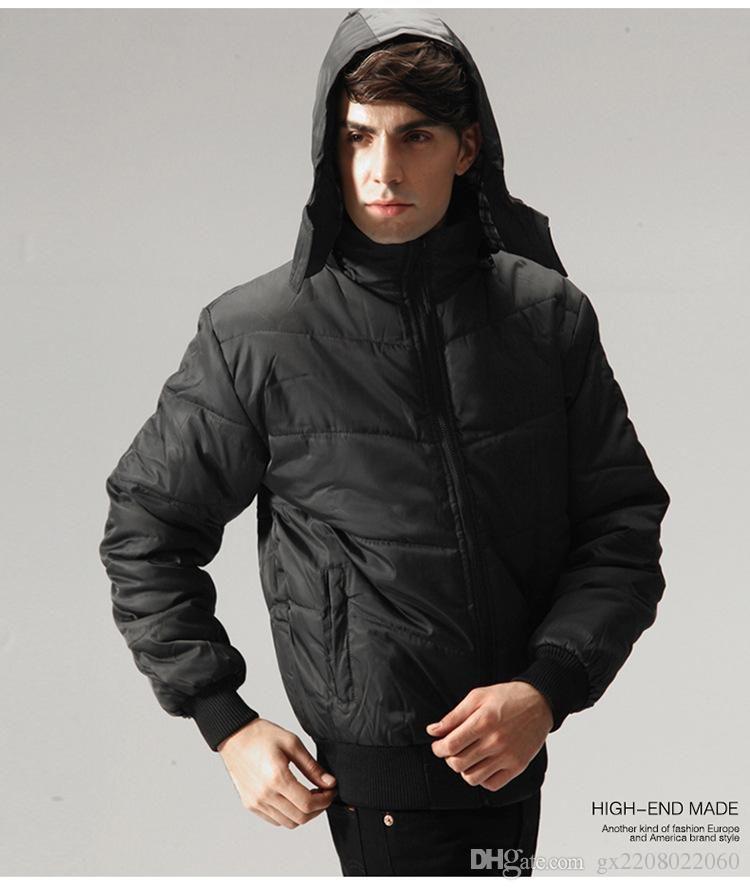 c1f6d590098 Men's Korean Fashion Urban Men's Casual Loose Hooded Down Coat ...