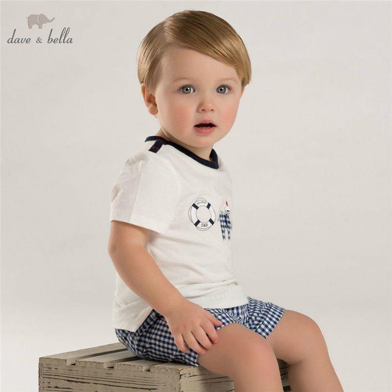 2ee427d09 2019 DB3536 Dave Bella Summer Baby Boy Printed Boy Cotton T Shirt ...