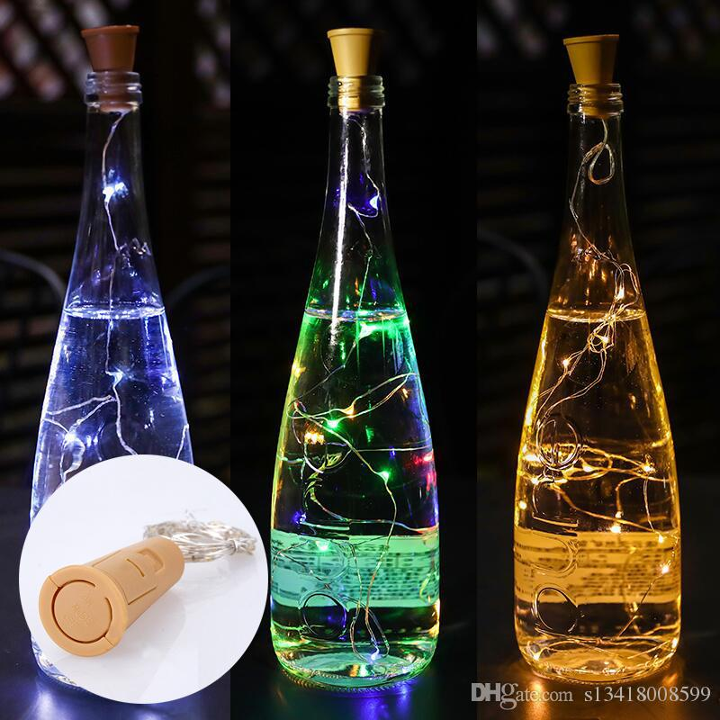 2M 20LED wine bottle stopper lamp copper outdoor party decoration novelty night light DIY cork string Christmas wedding glass bottle flash d