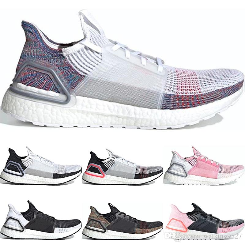 d33af87b55a1f 2019 2019 Ultra Boost 19 Men Women Running Shoes Oreo REFRACT True Pink  Black White Multi Color Ultraboost Mens Trainers Sports Sneakers 36 45 From  ...